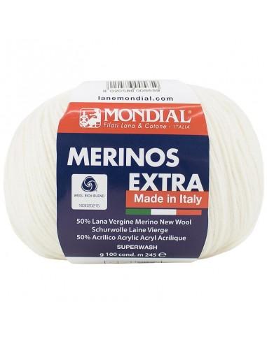 MERINO EXTRA 100GR COL 100 MONDIAL
